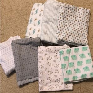 Other - Baby Boy Swaddle Blankets (Lot of 7)